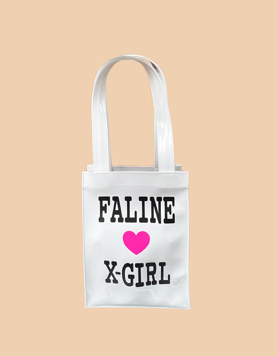 X-GIRL × FALINE MINI TOTE BAG (WHITE)